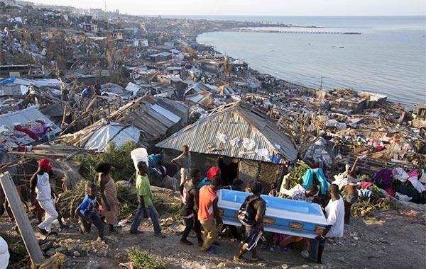 Hurricane Matthew devastation in Haiti