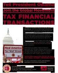 Obama tax Wall Street flyer