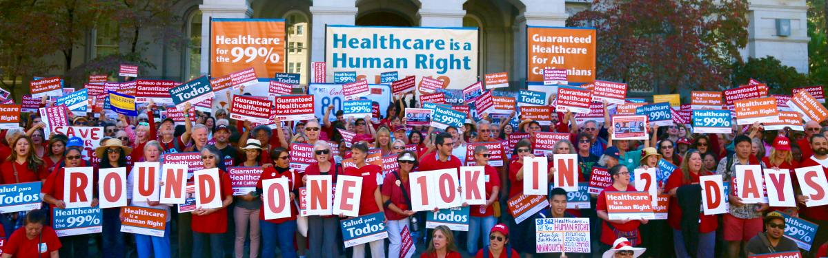 RNs Rally to Support Single Payer Bill SB 562