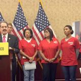 RN Volunteers at Capitol presser