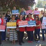 Volunteers at the SB 562 action in assembly district 28