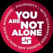 You are not alone quarantine sticker