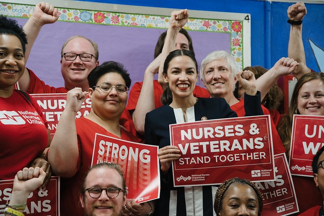 Rep. Alexandria Ocasio-Cortez gathered with Bronx VA nurses to fight for our veteran patients.