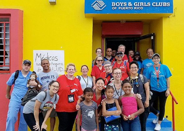 Nurses at Boys & Girls Club in Puerto Rico