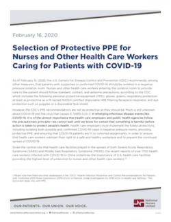 NNU COVID-19 PPE Report