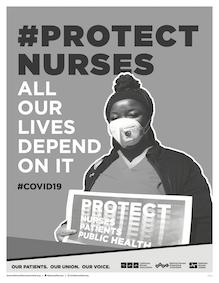 Protect Nurses window sign