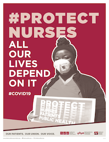 "Sign ""Protect Nurses, All Our Lives Depend On It"""