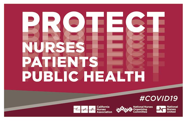 """Sign """" Protect Nurses, Patients, Public Health"""