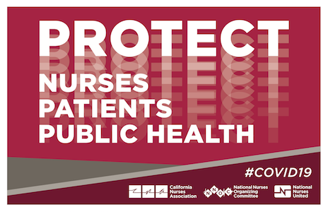 Protect Nurses from COVID-19 sign