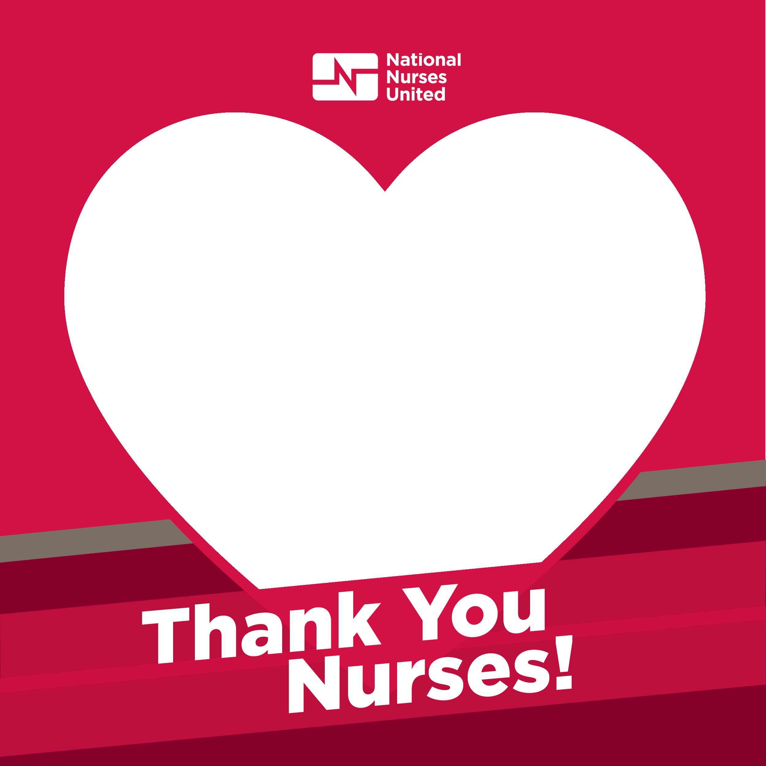 Thank You Nurses Heart Frame