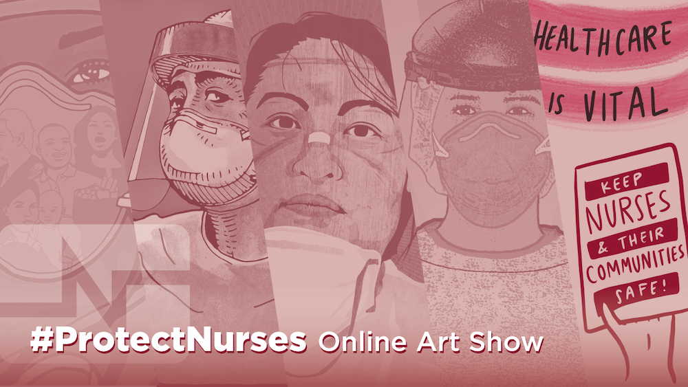 Protect Nurses Online Artshow graphic