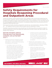 NNU Hospital Reopening Safety Requirements document
