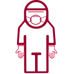 Icon of nurse in PPE