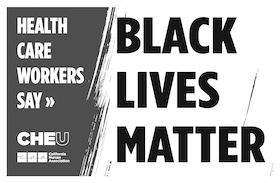 """Sign """"Health Care Workers Say Black LIves Matter"""""""