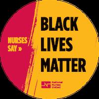"Sticker ""Nurses Say Black Lives Matter"""