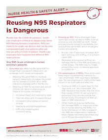Alert: Reusing N95 Respirators is Dangerous