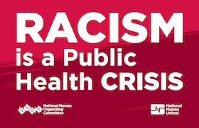 "Sign ""Racism is a public health crisis"""