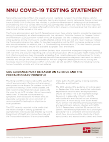 Document - National Nurses United statement on testing