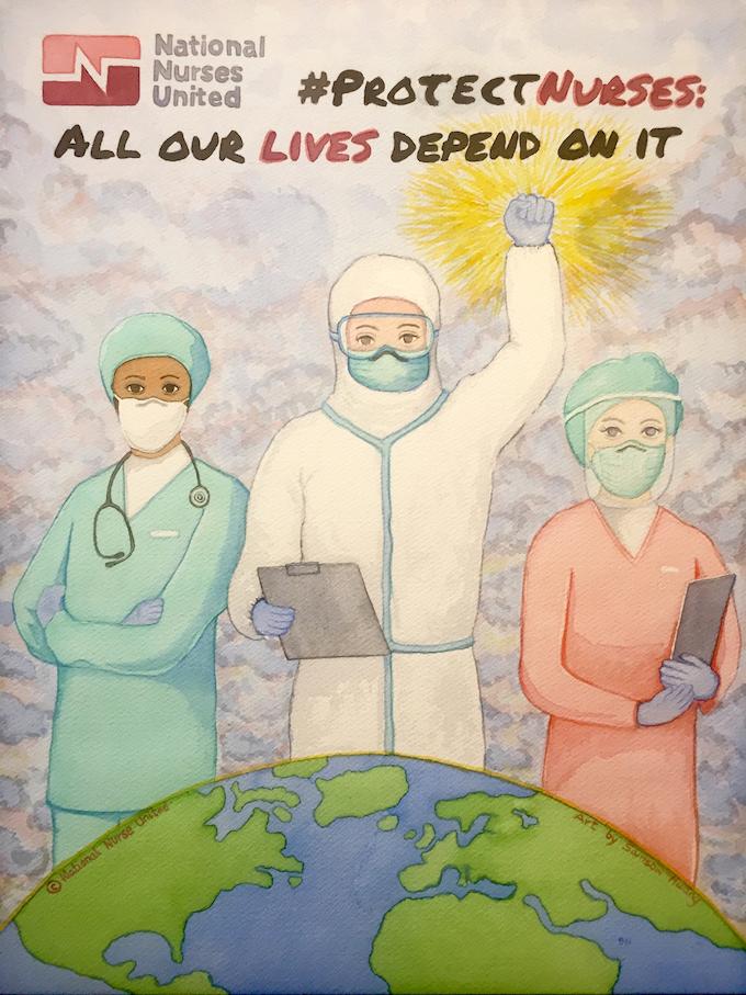Sam Huang nurse artwork