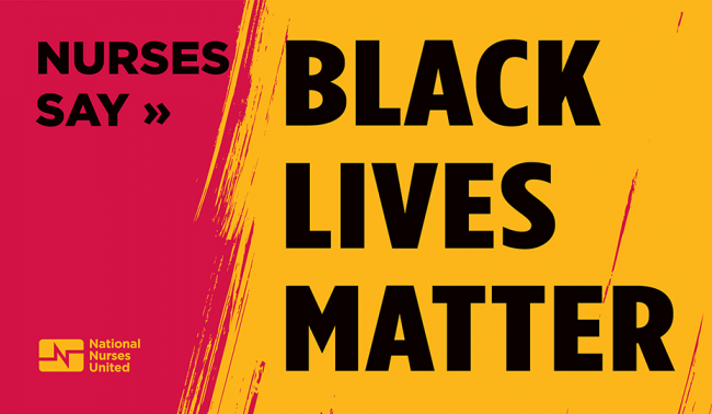 "Graphic ""Nurses Say Black Lives Matter"""