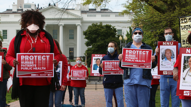 Nurses protest outside The White House