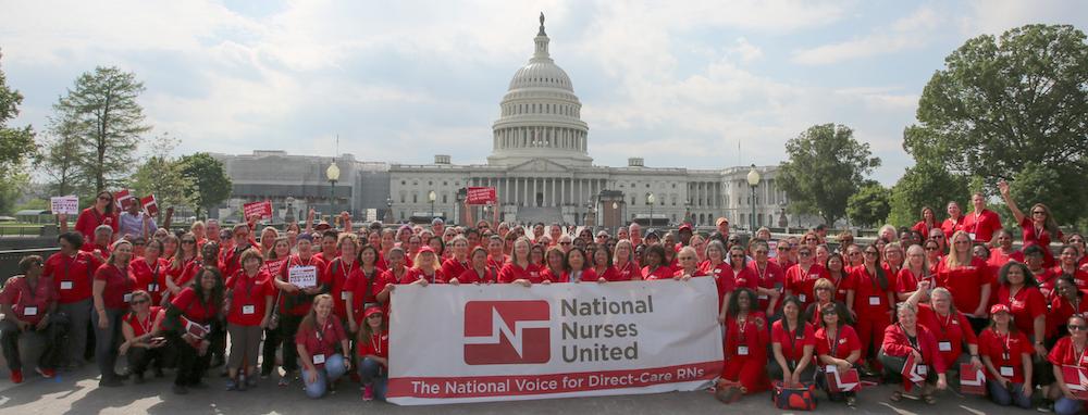 Nurses outside capitol
