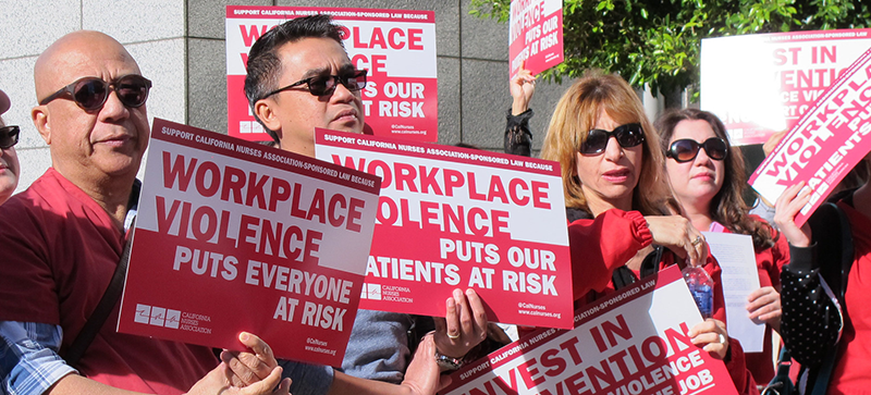Nurses rally against workplace violence