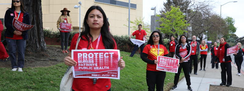 Nurses protest lack of protection