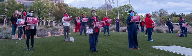 Nurses rally outside medical center