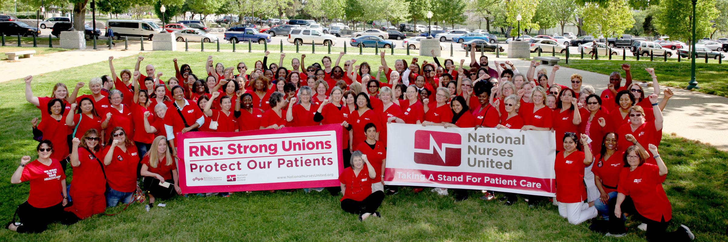 Nurses at DC lobby day