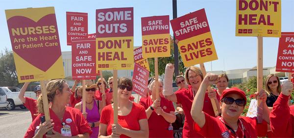 Nurses at Good Samaritan Hospital in Los Angeles Reach