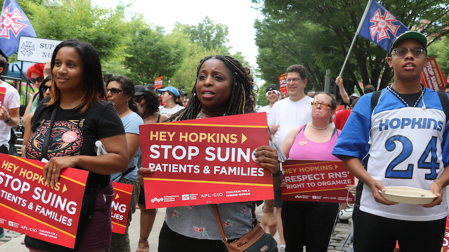 Rally at Johns Hopkins Hospital against medical debt - July 20, 2019