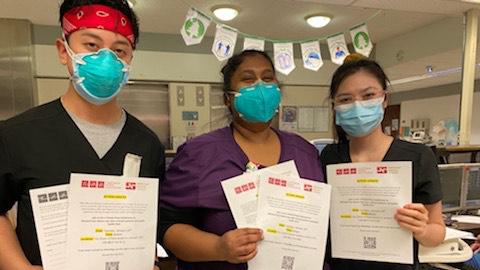 Nurses hold petitions