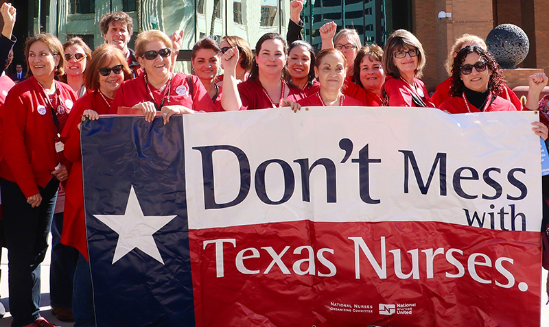 Nurses picketing