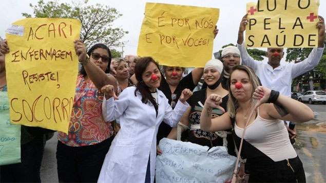 Nurses protest in Brazil