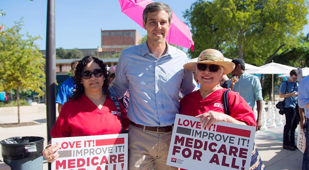 Beto O'Rourke with NNU RNs
