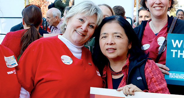 Bonnie Castillo, RN and Jean Ross, RN
