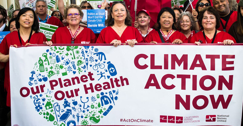 Nurses demand climate action