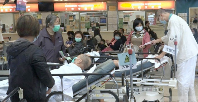 Doctors and nurses in Hong Kong public hospitals are being pushed to the breaking point amid the flu epidemic.