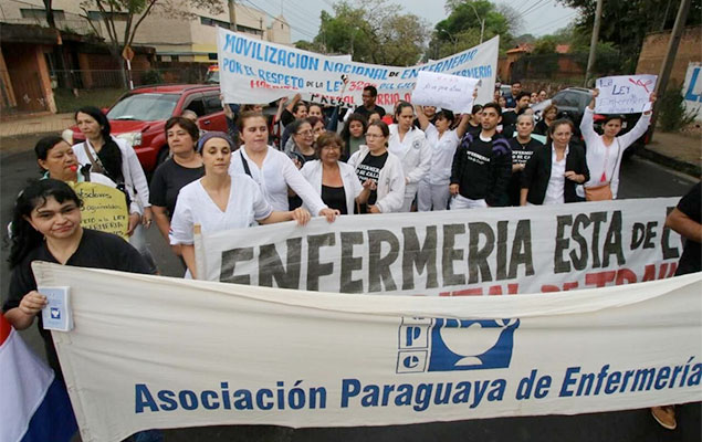 Nursing union mobilizes. Photo file: Agustín Acosta.