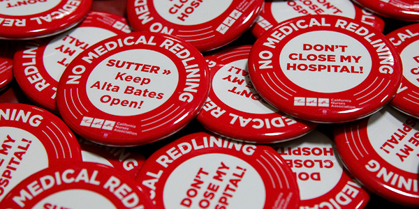 Hospital closure buttons