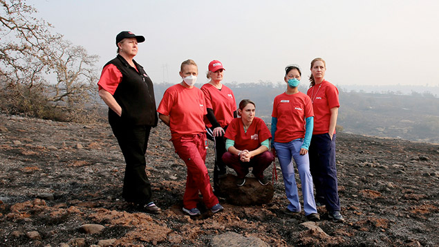 RNs overlook camp fire devastation