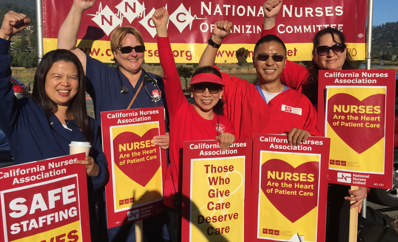 Nurses picket for patient care