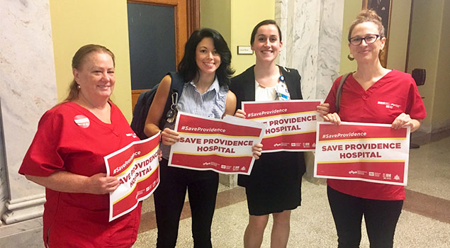 RNs testify before City Council on the attempt to close Providence Hospital