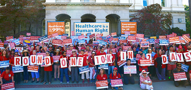 Single Payer Supporters Rally at State Capitol