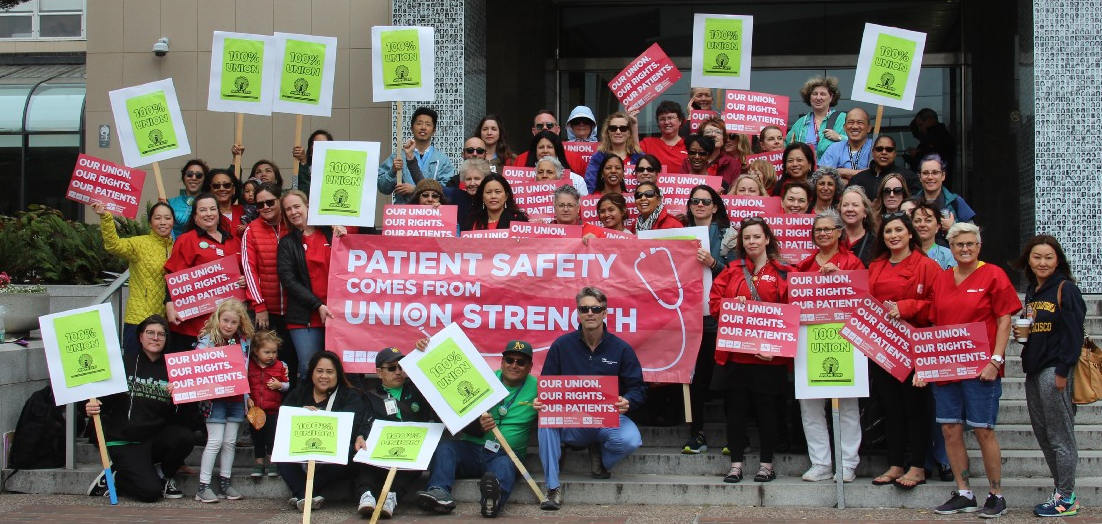 RNs and caregivers at UCSF show solidarity and strength