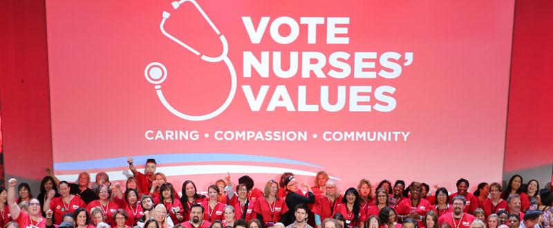 Vote Nurses Values