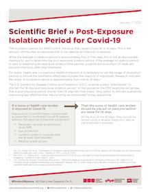 Document - Scientific Brief » Post-Exposure Isolation Period for Covid-19