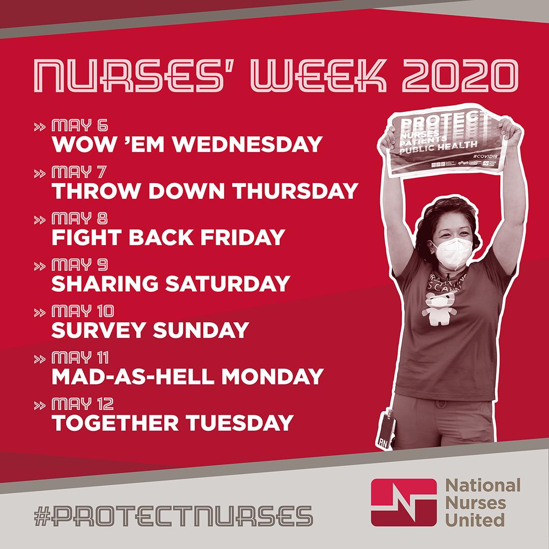 Nurses' Week schedule graphic