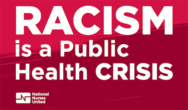 "Graphic ""Racism is a public health crisis"""